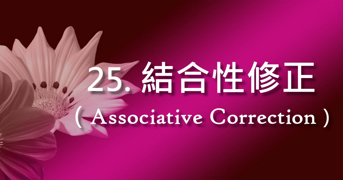 結合性修正(Associative Correction)