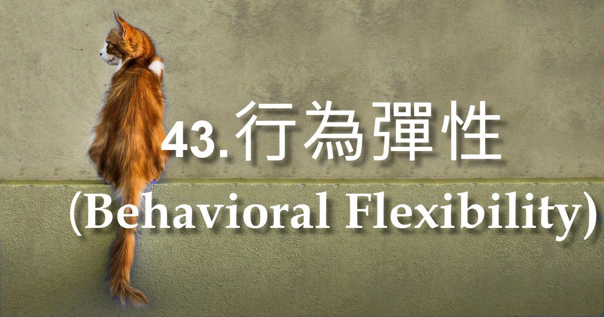 行為彈性(Behavioral Flexibility)