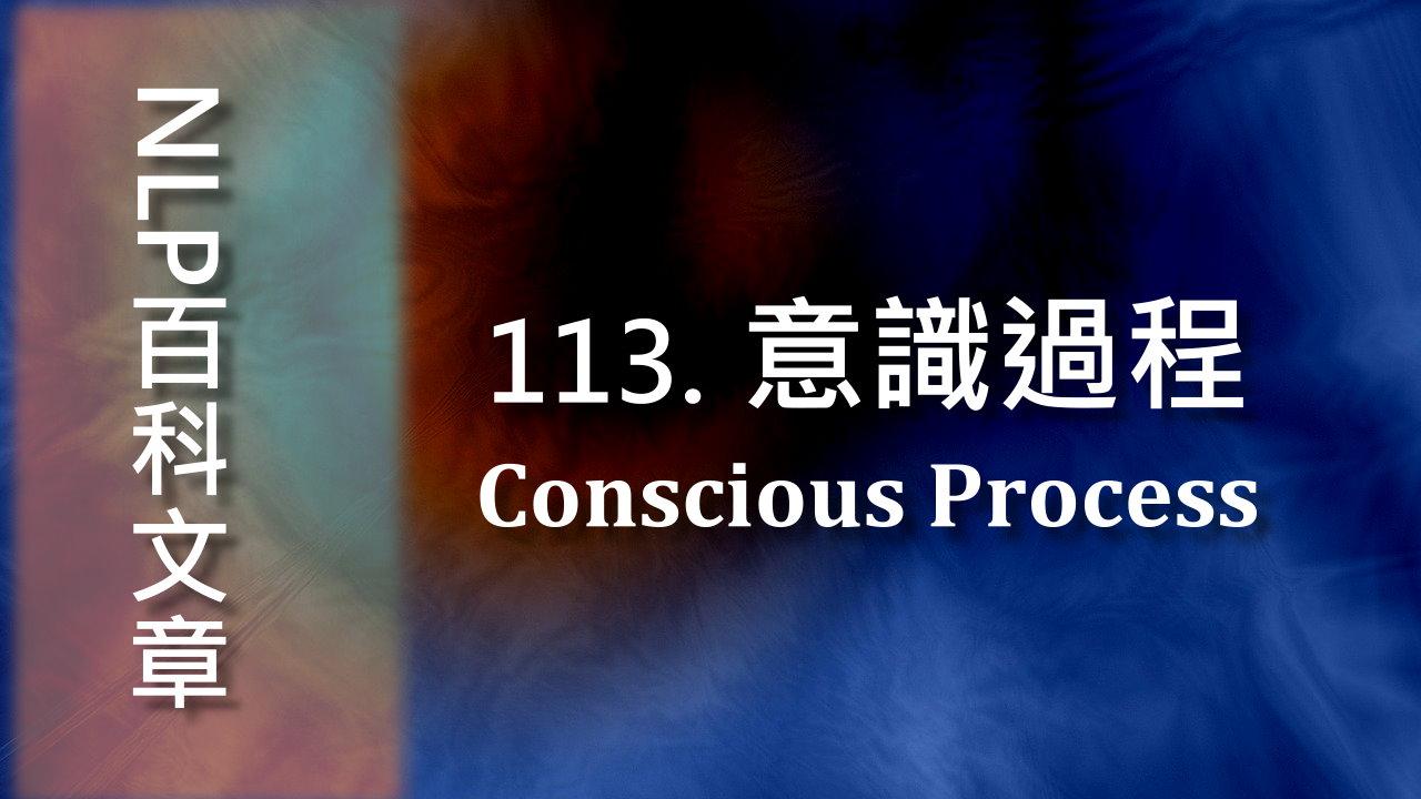 113. 意識過程(Conscious Process)